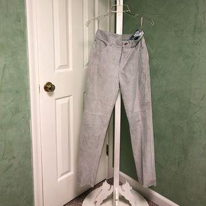 Ralph Lauren ladies suede leather pants, w/ lining